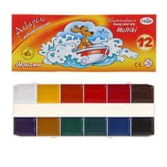 """Gamma 3 ks, vodové barvy 12 barev, """"gama"""" """"kreslené postavy"""""""