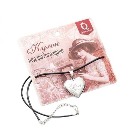 """Kraftika Medál egy string """"fotó"""" szív felirattal, színes ezüst, 45 cm"""