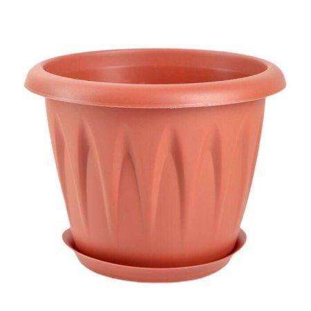 """IDEA Kashpo tálcával 1,4 l """"alicia,"""" d = 16 cm, terrakotta szín"""