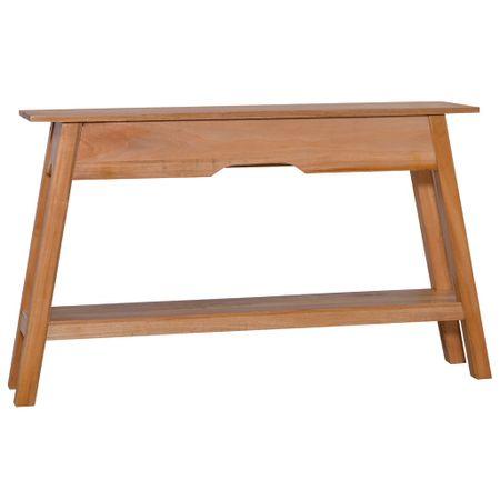 slomart Konzolna mizica 120x30x75 cm trden mahagonij