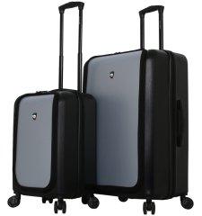 Mia Toro Sada cestovních kufrů MIA TORO M1709/2 - černá/stříbrná