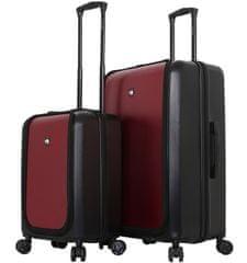 Mia Toro Sada cestovních kufrů MIA TORO M1709/2 - černá/vínová