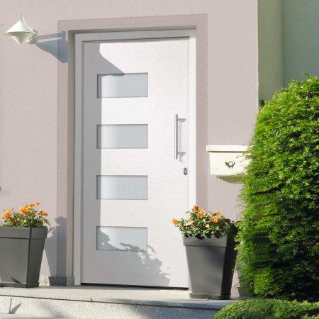 shumee Drzwi zewnętrzne, aluminium i PVC, białe, 100x210 cm