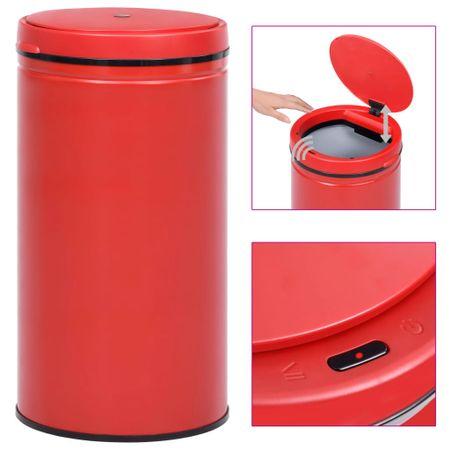 shumee Avtomatski smetnjak senzorski 60 L karbonsko jeklo rdeč