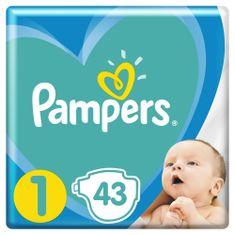 Pampers plenice New Baby 1 (2-5 kg) Newborn 43 kosov