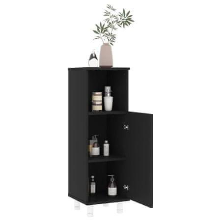 slomart Kopalniška omarica črna 30x30x95 cm iverna plošča