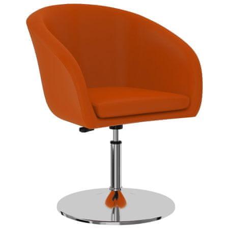 shumee Krzesło stołowe, pomarańczowe, sztuczna skóra