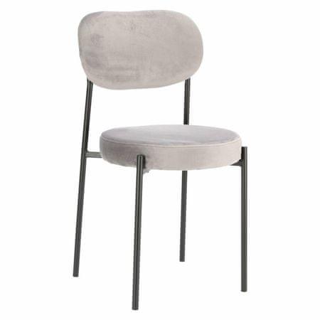 shumee Krzesło Camile Velvet szare