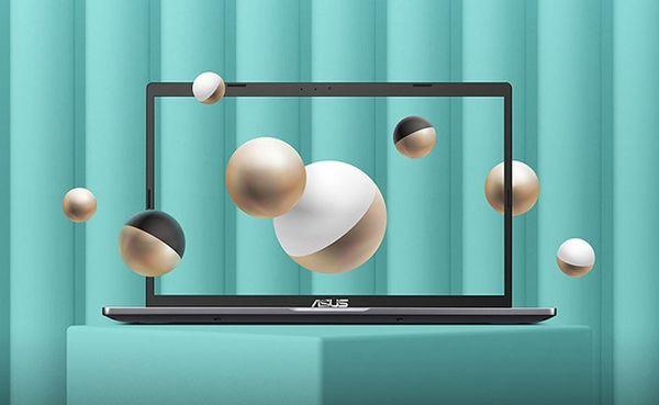 elegantní univerzální notebook asus M515DA-BQ208T windows 10 home dvoučlánková baterie podsvícená klávesnice amd grafika čtečka paměťových karet kamera Bluetooth wifi ac připojení wlan hdmi  matný displej ips výkonný procesor amd nízká hmotnost notebooku