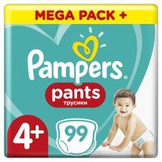 Pampers Pants Maxi+ vel. (4+) (9-15 kg) Mega Box - plenkové kalhotky 99 ks