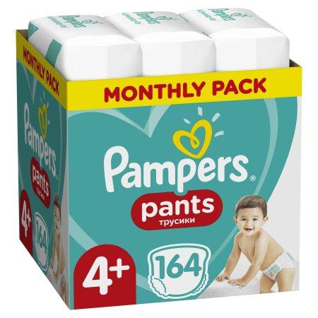 Pampers plenice Pants Maxi+ vel. 4+ (164 kosov) - plenice (9-15 kg) - Mesečni paket - Odprta embalaža