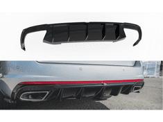 Maxton Design vložka zadního nárazníku ver.2 pro Škoda Octavia RS Mk3, černý lesklý plast ABS, pro benzínové motory