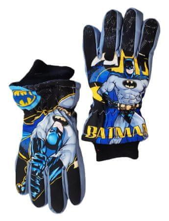 """SETINO Fantovske smučarske rokavice """"Batman"""" - siva - 7–8 let"""