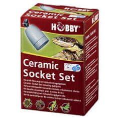 HOBBY Terraristik HOBBY Ceramic Socket Set keramická objímka v sadě s kulovým kloubem
