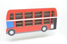 TeTo-design Polička na autíčka Autobus Anglie set