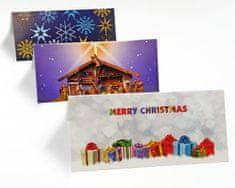 tvorme Zatváracia vianočná pohľadnica s obálkou - MERRY CHRISTMAS, ch04
