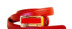 GOLDSUN Dámský kožený opasek - červená