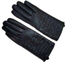 GOLDSUN Dámske kožené rukavice - čierna