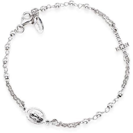 Amen Eredeti ezüst karkötő cirkónium kövekkel Rosary BROBZ3