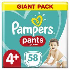 Pampers Pants Maxi+ (4+) (9-15 kg) Giant Pack - plenkové kalkotky 58 ks
