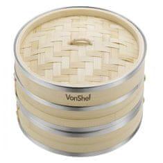 VonShef Dvodijelni parnik od bambusa