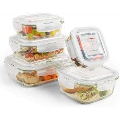 VonShef Komplet staklenih posuda od 5 komada za čuvanje hrane