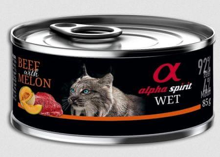 Alpha Spirit mokra hrana za mačke, govedina, melona, 85 g