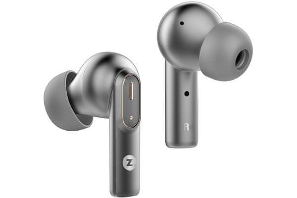 moderní bezdrátová sluchátka intezze cliq 10mm dynamické měniče Bluetooth 5.2 detailní zvuk stylové nabíjecí kovové pouzdro provoz až 40 h handsfree mikrofony s potlačením okolních hluků čip qualcomm 3040 kodek aptx dotykové ovládání tws provedení špunty do uší velice pohodlná při nošení