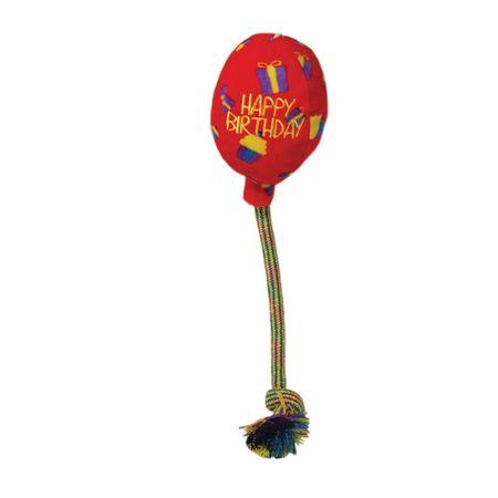 KONG Occasions Birthday, igračka za pse, balon, L, crveni