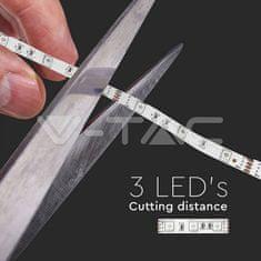 V-TAC RGB LED pásek 3528 30 LED/m teplá bílá 5m