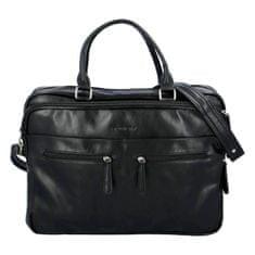 Rovicky Praktická koženková pracovná taška Juli, čierna