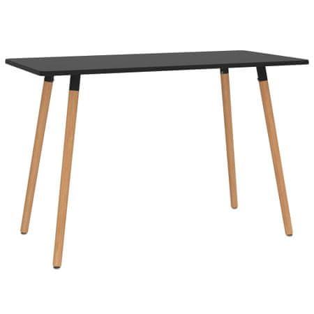 shumee Stół jadalniany, czarny, 120 x 60 x 75 cm, metalowy