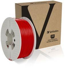 Verbatim nyomtatószál, ABS, 1,75 mm, 1 kg, piros (55030)