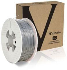 Verbatim nyomtatószál, PLA, 1,75 mm, 1 kg, ezüst (55319)