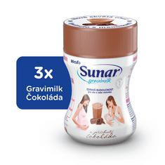 Sunar Gravimilk s príchuťou čokolády 3x300g