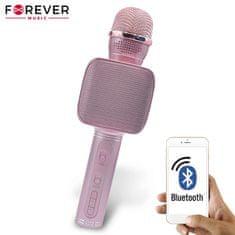 Forever BMS-400 mikrofon z zvočnikom, Bluetooth, roza