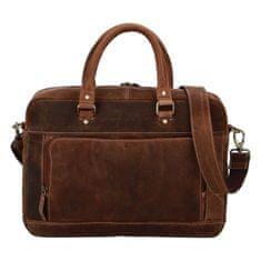 Diviley Pánská cestovní business taška kožená Diviley luxury, světle hnědá