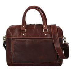 Diviley Pánská cestovní business taška kožená Diviley luxury, tmavší hnědá