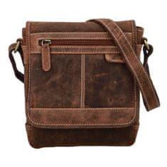 Diviley Pánská kožená crossbody taška Diviley City brown, světle hnědá