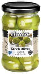 Almito Grécke olivy plnené cesnakom 270g (bal. 6ks)