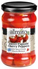 Almito Sladko-pikantné cherry papričky plnené syr.krémom 280g (bal. 6ks)
