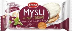 EMCO MYSLI ovsenná sušienka s brusnicou v jogurt.poleve 60g (bal. 24ks)