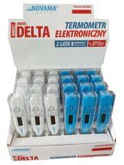 Novama White Delta Digitalni termometer z merjenjem v 60 sekundah, 24 kosov z zaslonom