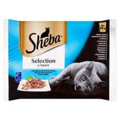 Sheba Kapsa Selection rybí šťavnatý výber 340g (bal. 13ks)