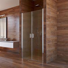 Mereo Sprchové dveře, Lima, dvoukřídlé, lítací, 100x190 cm, chrom ALU, sklo Point (CK80532K)