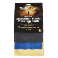 MusicNomad MN203 3 Super Soft Edgeless Microfiber Suede Polishing Cloth Pak - set tří kusů utěrek z mikrovlákna