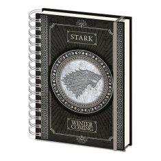 Game of Thrones Blok Stark / A5 kroužkový