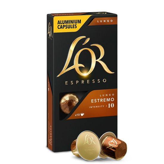 L'OR Espresso Lungo ESTREMO 10 hliníkových kapslí kompatibilních s kávovary Nespresso®*