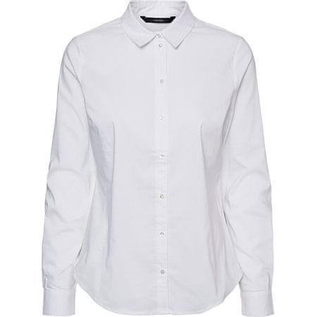 Vero Moda Ženska majica VMJULIE LS SHIRT GA COLOR 10243886 Bright White (Velikost S)