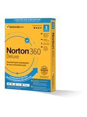 NORTON 360 DELUXE 25GB CZ pro 1 uživatele na 3 zařízení na 12 měsíců BOX